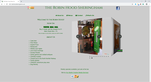 The Robin Hood Sheringham website
