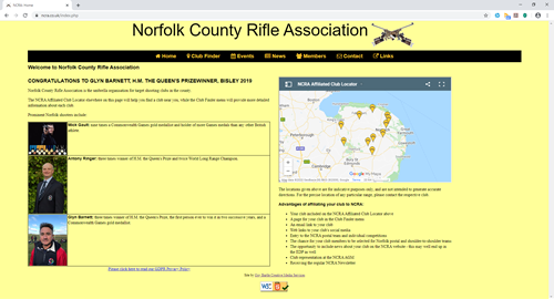 Norfolk County Rifle Assosciation website