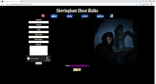 Sheringham Ghost Walks website