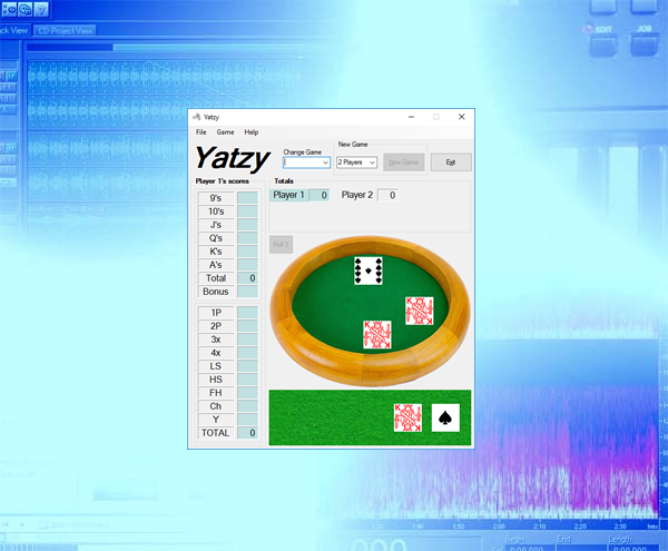 Yatzy Game background